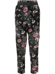 floral print cropped trousers Ganni