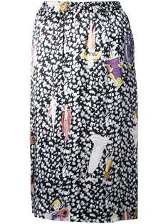 прямая юбка с принтом Theatre Products