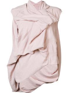 sleeveless draped jacket Rick Owens DRKSHDW