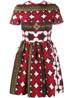 платье с цветочным узором Valentino