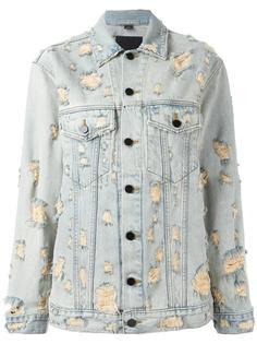 джинсовая куртка с рваными деталями Alexander Wang