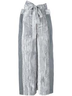 tied belt cropped trousers Eckhaus Latta
