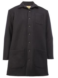patch pockets mid coat Christopher Nemeth