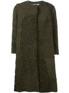 окрашенное вручную пальто с ажурными панелями By Walid