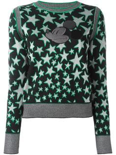 джемпер с принтом звезд и аппликацией Marc Jacobs