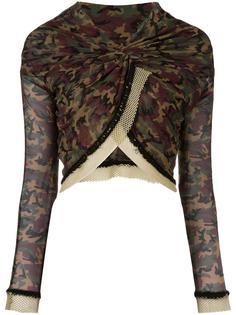 прозрачный топ с камуфляжным принтом Jean Paul Gaultier Vintage