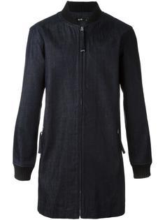джинсовое пальто с воротником в рубчик Blood Brother