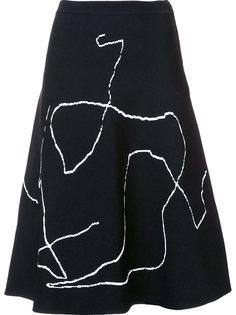 юбка А-образного силуэта с рисунком Derek Lam