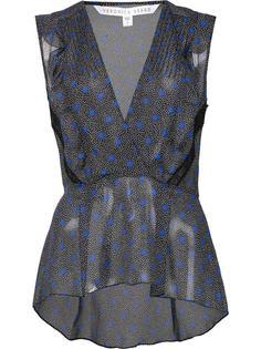 блузка с V-образным вырезом Veronica Beard