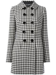 пальто в ломаную клетку Dolce & Gabbana