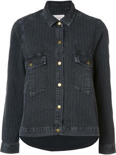 джинсовая куртка в узкую полоску The Great