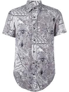 рубашка с абстрактным принтом Jean Paul Gaultier Vintage