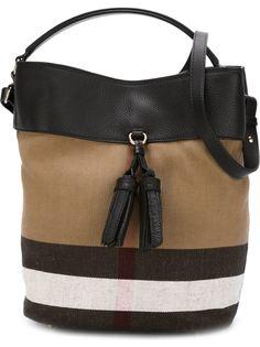 большая полосатая сумка-мешок Burberry