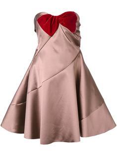 расклешенное платье без бретелек Paule Ka