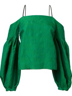 блузка с открытыми плечами Hellessy
