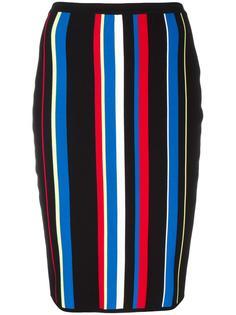 полосатая юбка с завышенной талией  Versace