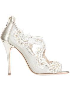 декорированные туфли Oscar de la Renta