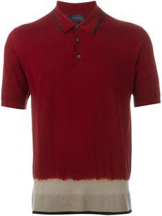 футболка-поло с контрастным подолом Lanvin