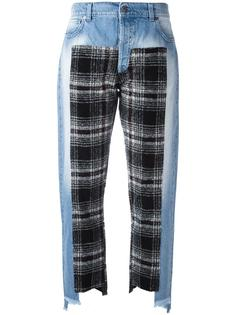 джинсы с клетчатыми вставками Gaelle Bonheur