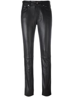 кожаные брюки скинни Calvin Klein Jeans