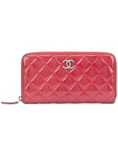 стеганый кошелек на молнии Chanel Vintage