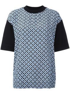 футболка с геометрическим рисунком Marni