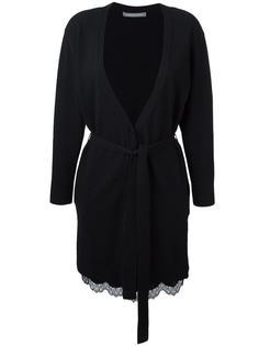 платье-комбинация с кардиганом Alberta Ferretti