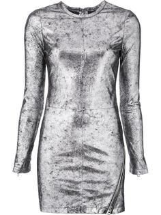 облегающее платье с эффектом металлик Rta