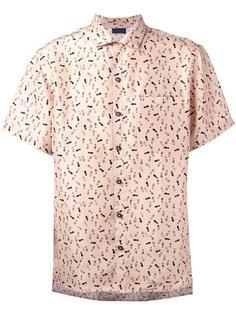 рубашка с принтом следов туфель Lanvin