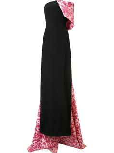 вечернее платье с ниспадающей деталью Christian Siriano