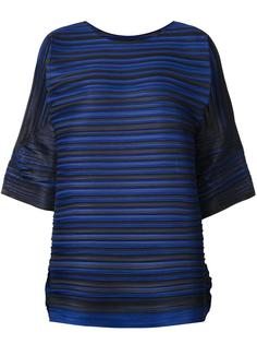 pleated loose bicolour top Pleats Please By Issey Miyake