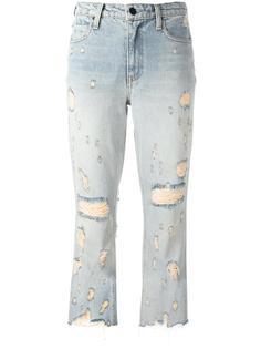 укороченные джинсы с рваными деталями Alexander Wang