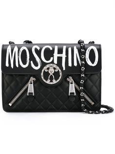 сумка на плечо с логотипом 'Graffiti' Moschino