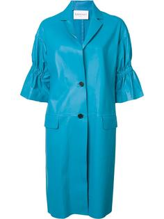 ruched sleeve coat Vionnet