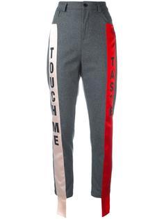 брюки с контрастными полосками по бокам Au Jour Le Jour