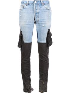 contrast slim-fit trousers Greg Lauren
