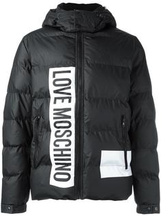 пуховик с принтом логотипа Love Moschino