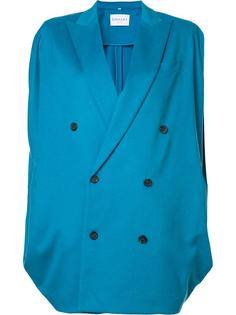 double breasted batwing coat Vionnet
