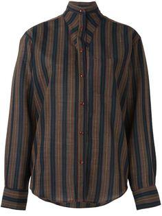 рубашка в полоску Kenzo Vintage