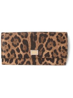кошелек с леопардовым принтом  Dolce & Gabbana