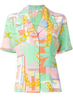 рубашка  с принтом  Céline Vintage