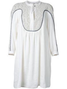 платье с гипюровой вставкой Chloé
