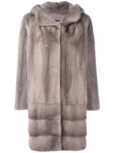 меховое пальто с капюшоном Arma