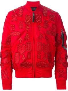 куртка-бомбер с нашивками  Marcelo Burlon County Of Milan