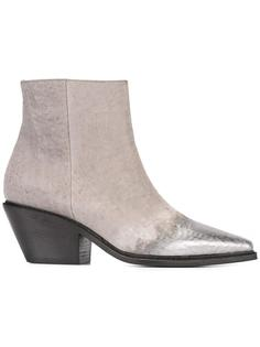 ботинки с эффектом металлик на носке Vic Matie