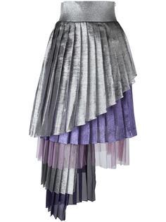 асимметричная плиссированная юбка Daizy Shely