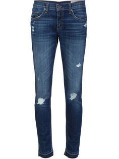 рваные джинсы кроя скинни Rag & Bone /Jean