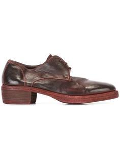 туфли дерби с эффектом потертости Guidi