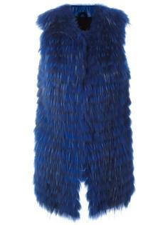 длинный меховой жилет Numerootto