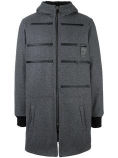пуховое пальто с капюшоном Letasca